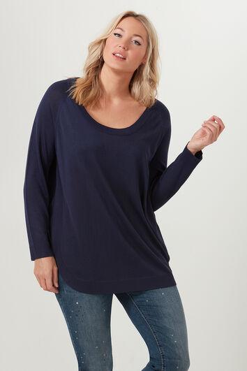 Pullover mit abgerundeter Unterseite