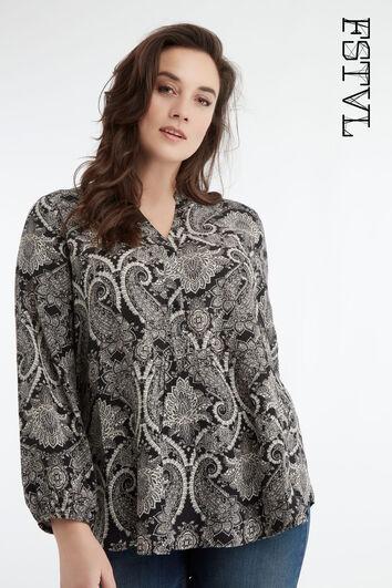 Bluse mit Print