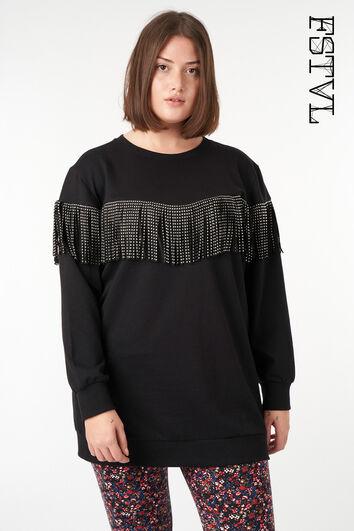 Sweatshirt mit Fransendetail