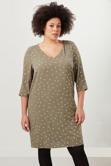 Kleid mit Glanz-Print