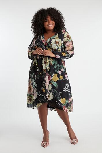 Wickelkleid mit floralem Print