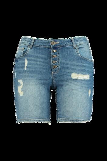 Jeans-Shorts mit Knöpfen
