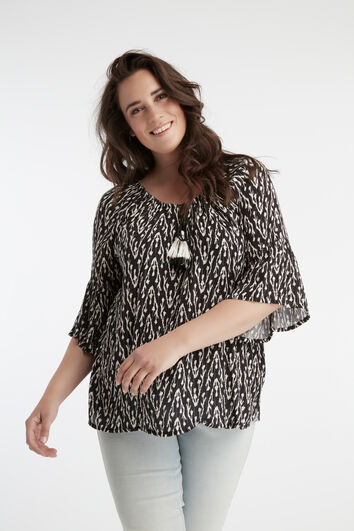 Bell-Sleeve Bluse