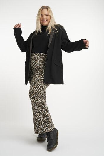 Ausgestellte Leggings mit Leoparden-Print