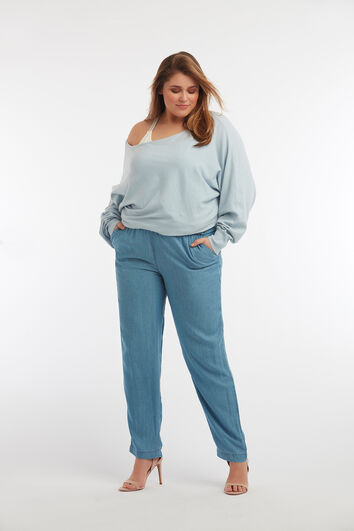 Tencel-Hose in lockerem Schnitt