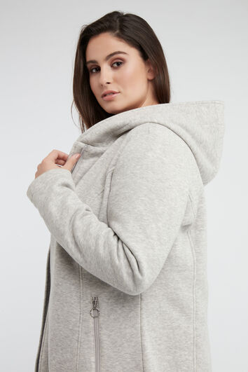 Jersey-Jacke mit Kapuze