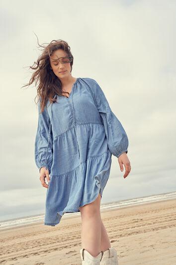 Kleid mit Jeans-Look