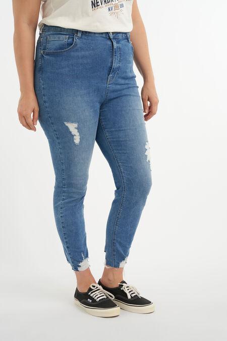 Jeans mit Destroyed-Detail