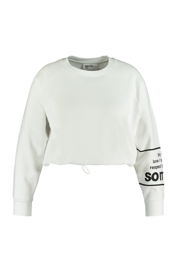 Cropped Sweater mit Tunnelzug