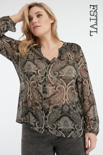 Paisley-Bluse
