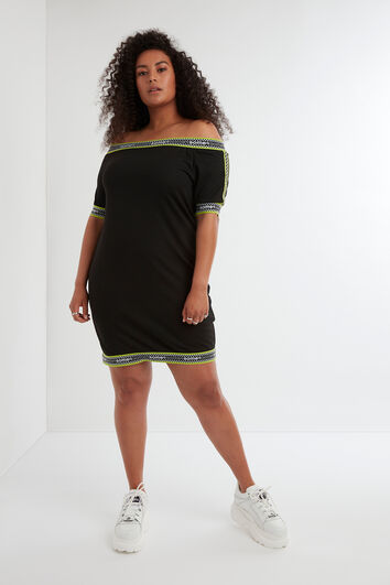 Bodycon-Kleid mit Logo-Print