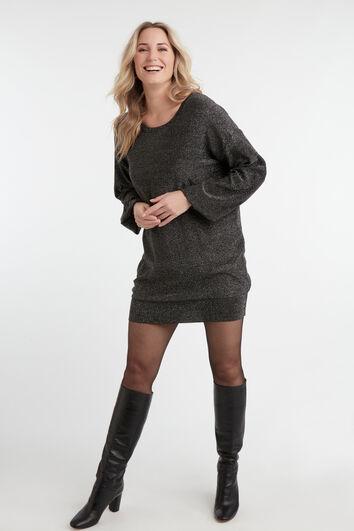 Langer Lurex-Pullover