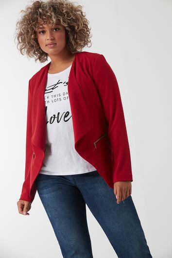 Kurze Jacke mit dekorativen Reißverschlüssen