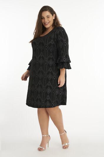 Lurex-kleid mit Prägung