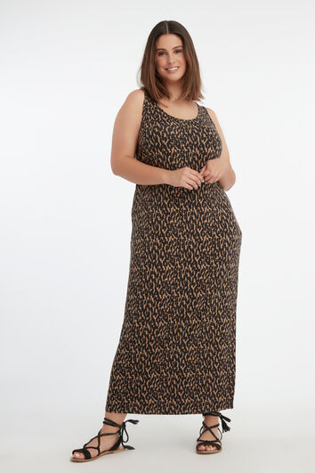 Maxi-Kleid mit Schlitz
