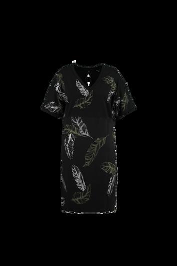 Legeres Kleid mit Print und Glitzer