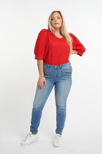 Jeans mit Reißverschluss-Element