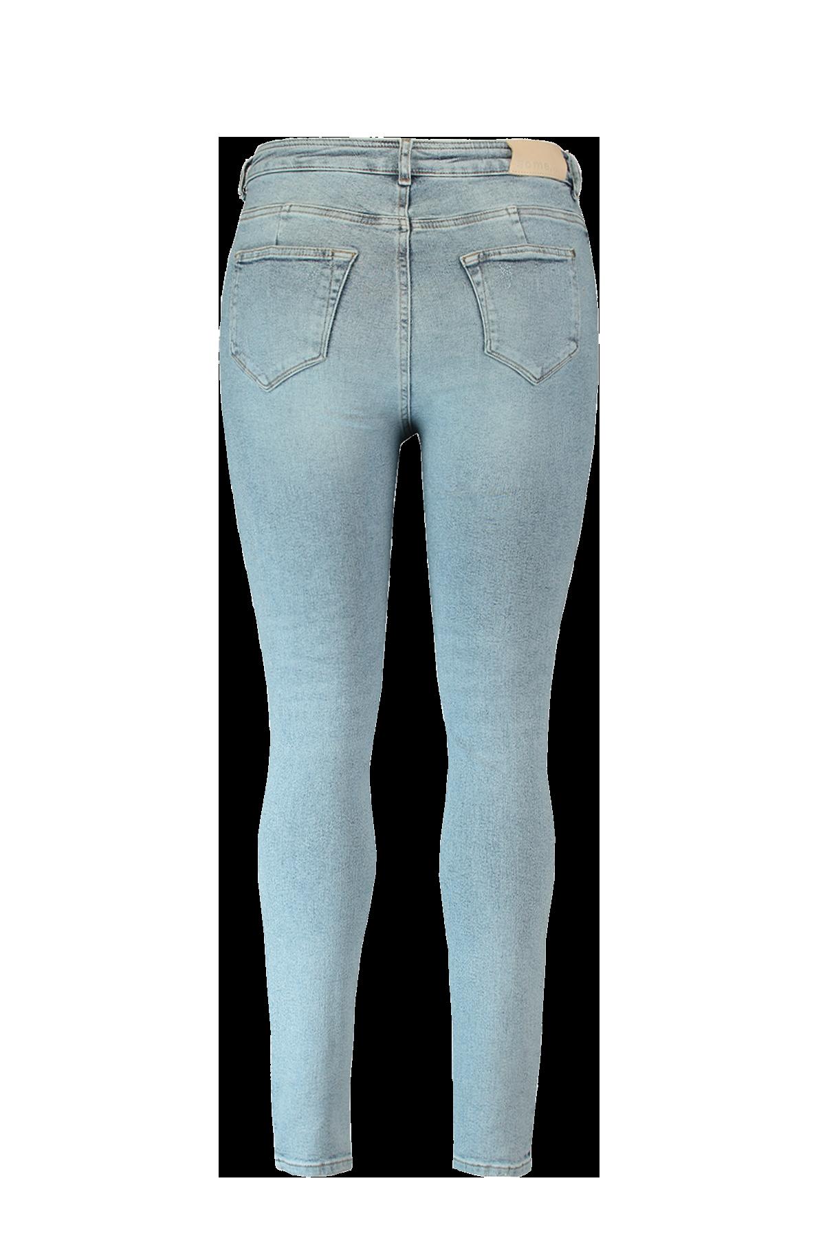 A Fit Jeans gebleicht mit hohem Bund